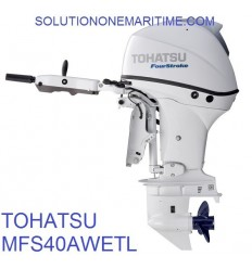Tohatsu 40 HP 4-STK 2018 EFI Tiller Electric Power Trim Long Shaft [MFS40AWETL] Not Shippable