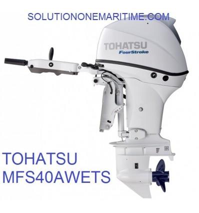 Tohatsu 40 HP 4-STK 2018 EFI Tiller Electric Power Trim Short Shaft