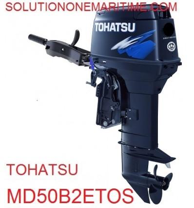 Tohatsu 50 HP 2-STK 2018 DFI Tiller Electric Power Trim Short Shaft  [MD50B2ETOS] Not Shippable