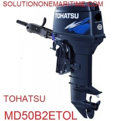Tohatsu 50 HP 2-STK 2018 DFI Tiller Electric Power Trim Long Shaft [MD50B2ETOL] Not Shippable