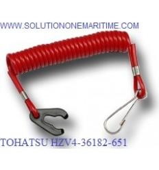 TOHATSU HZV4-36182-651 Safety Kill Switch Lanyard  Tohatsu BFT Models