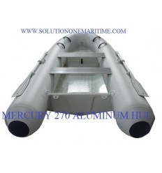 MERCURY 270 Aluminum RIB 2018 Model White Hypalon Free Shipping