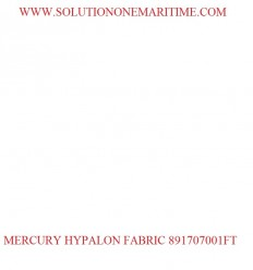 MERCURY Hypalon Material White 1 Square Foot 891707001FT