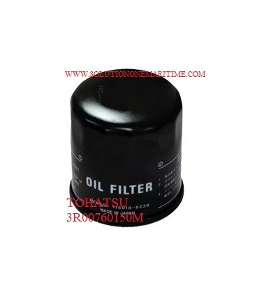 Tohatsu Nissan Oil Filter, 9.9 HP-60 HP 3R0076150M