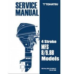 Tohatsu Outboard Service Manual Four Stroke 8 hp & 9.8 hp A Models 003210562