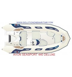Avon 440 Seasport Deluxe Rib with Tohatsu 60 hp EFI, 2019 Model, Hypalon
