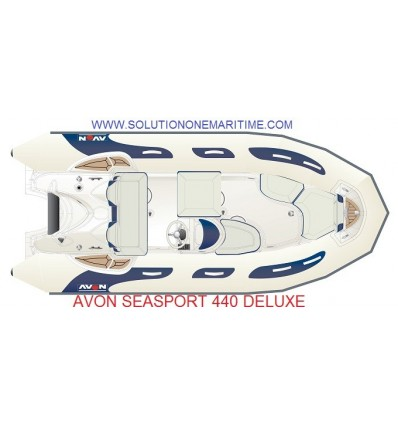 Avon 440 Seasport Deluxe Rib with Tohatsu 60 hp EFI, 2019 Model, Hypalon