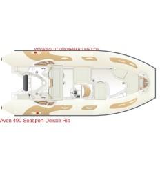 Avon 490 Seasport Deluxe Rib 2019 Model, Hypalon