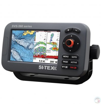 """SI-TEX SVS-560CF Chartplotter - 5"""" Color Screen w/Internal GPS & Navionics+ Flexible Coverage"""