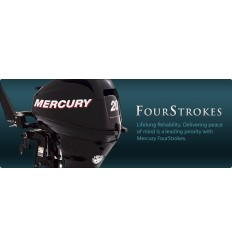 Mercury 20 HP 4-STK 2011 Electric Start Short Shaft [ME20EHSM4S] Free Shipping