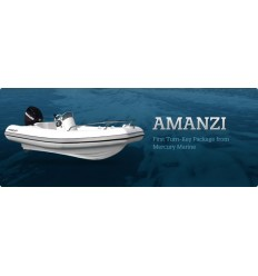 Mercury 400 Amanzi Deluxe Rib with Mercury 50 hp EFI, 2013Model, Hypalon