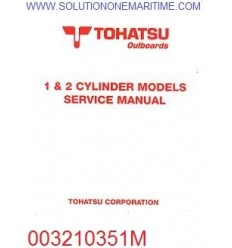 Tohatsu Outboard Service Manual Two Stroke 1 & 2 Cylinder Models 003210351M