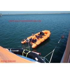 Zodiac RIBO 450 Rescue Inflatable Boat USCG/SOLAS Free Shipping