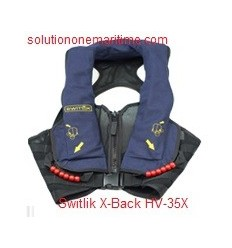 Switlik Aviation Life Vest X-Back HV-35X Blue