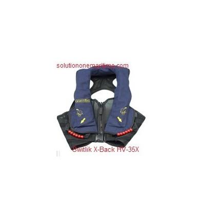 Switlik Aviation Life Vest X-Back HV-35X Blue